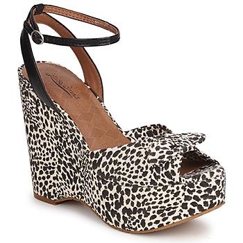 Schuhe Damen Sandalen / Sandaletten Lucky Brand VIERA Schwarz / Weiss