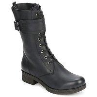 Schuhe Damen Klassische Stiefel Unisa BLACK Schwarz