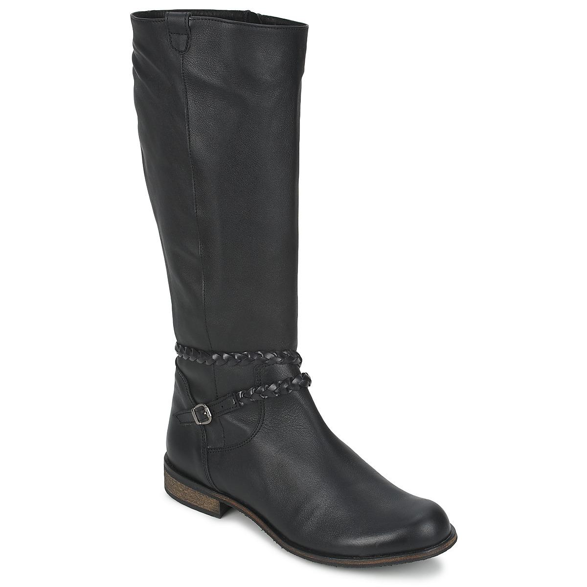 So Size BERTOU Schwarz - Kostenloser Versand bei Spartoode ! - Schuhe Klassische Stiefel Damen 149,00 €