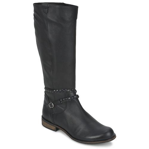 So Size BERTOU Schwarz Schuhe Schuhe Schwarz Klassische Stiefel Damen 149 2753af