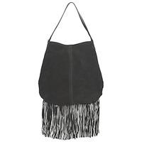 Taschen Damen Handtasche Pieces TABATHA SUEDE Schwarz