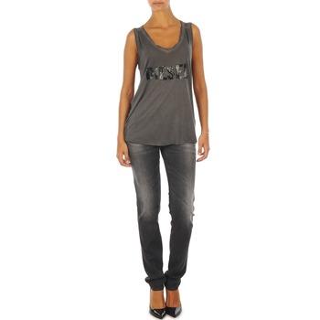 Kleidung Damen Slim Fit Jeans Diesel GETLEGG L.32 TROUSERS Grau