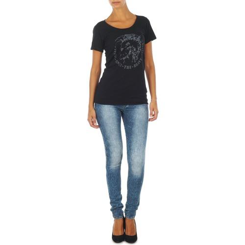 Kleidung Damen Slim Fit Jeans Diesel SKINZEE L.32 TROUSERS Blau