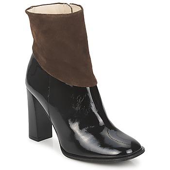 Schuhe Damen Low Boots Paco Gil MERLOUNI Schwarz / Braun