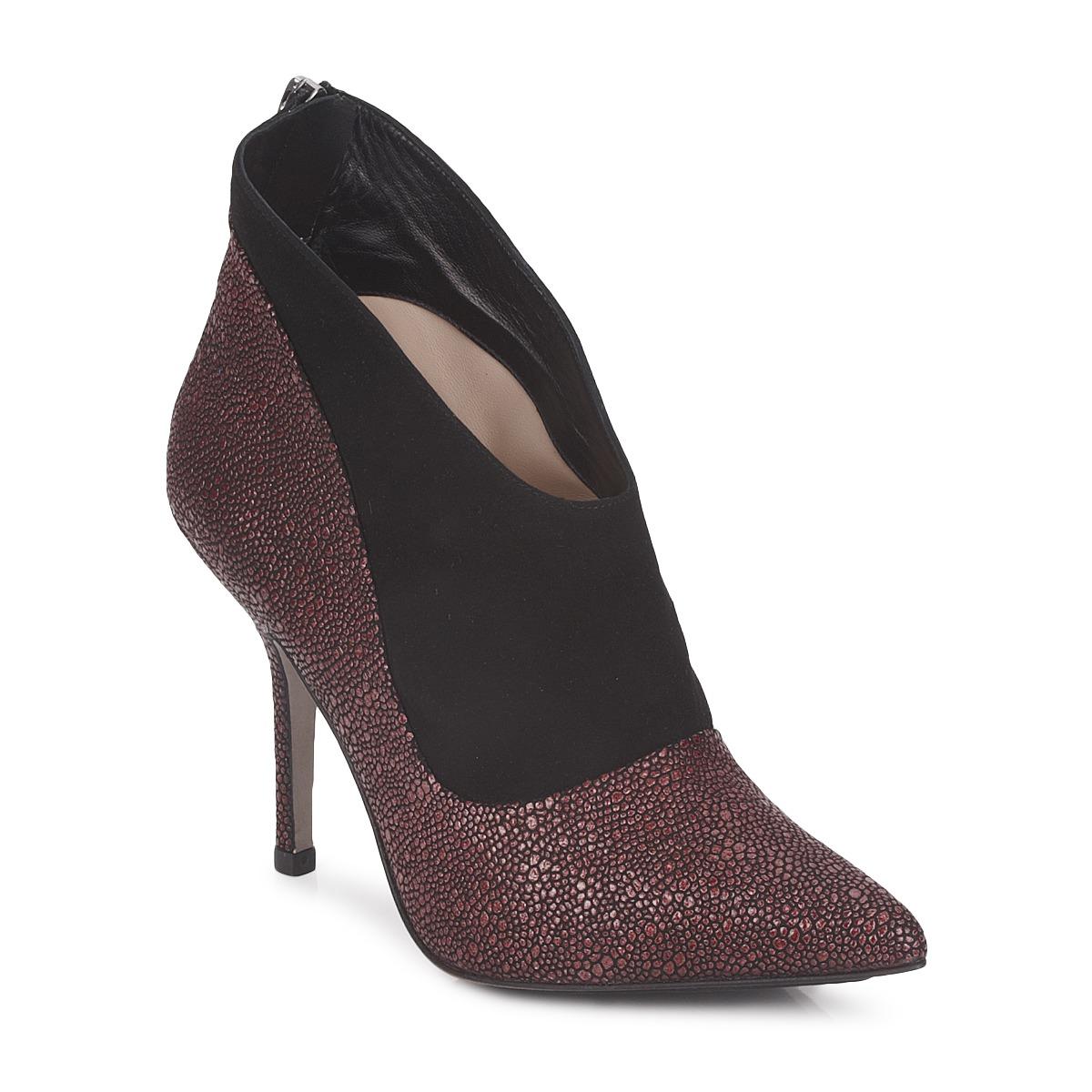 Paco Gil BILINE Bordeaux / Schwarz - Kostenloser Versand bei Spartoode ! - Schuhe Ankle Boots Damen 153,00 €