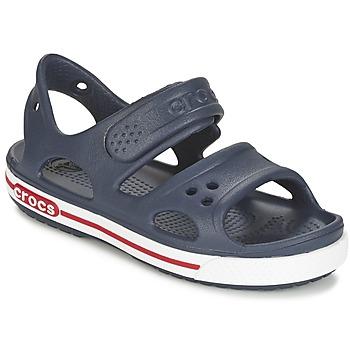 Schuhe Kinder Sandalen / Sandaletten Crocs CROCBAND II SANDAL PS Marine / Weiss