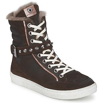 Schuhe Damen Sneaker High Janet Sport MOROBRAD Braun
