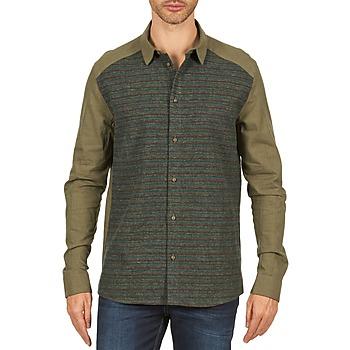 Kleidung Herren Langärmelige Hemden Eleven Paris VRAPP MEN Kaki