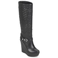 Schuhe Damen Klassische Stiefel Versace DSL909R Schwarz