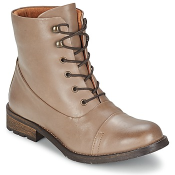 Schuhe Damen Boots Pieces SENIDA LEATHER BOOT Maulwurf