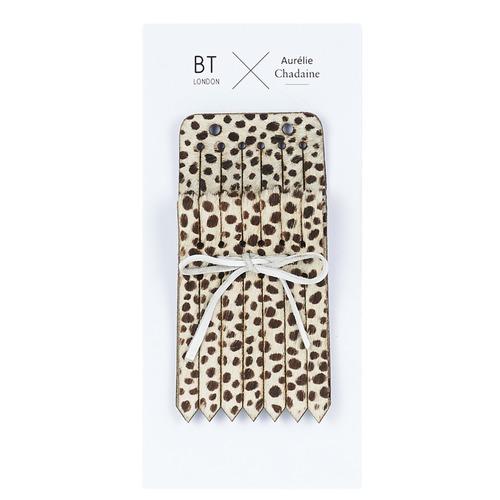 Accessoires Damen Abnehmbare Haferlaschen/ Fransen Betty London LANGUETTE DEOPAR Leopard