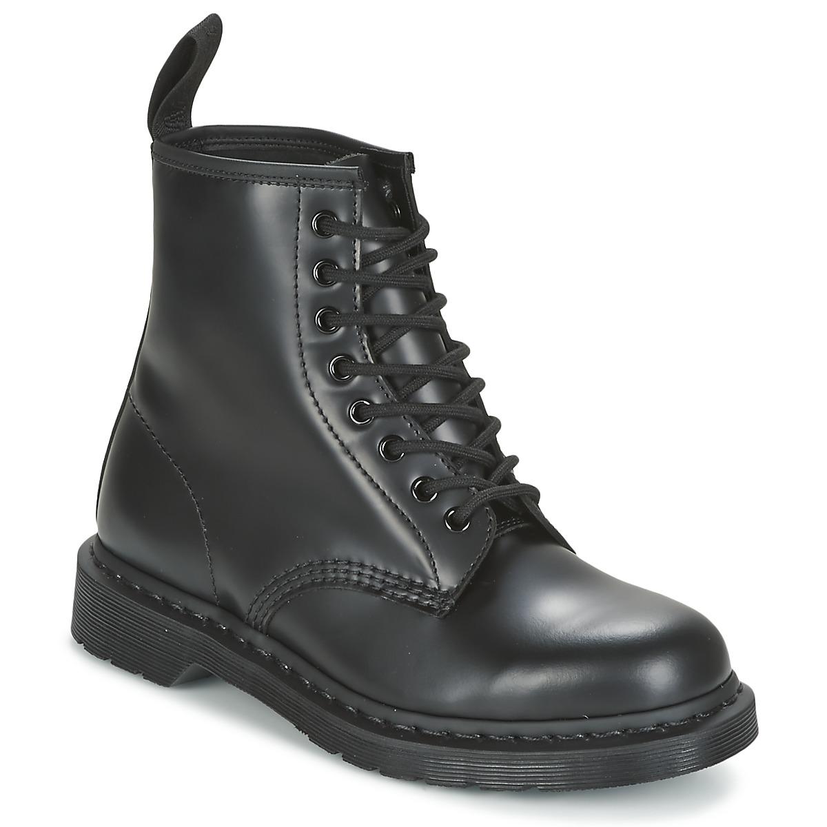 Dr Martens 1460 MONO Schwarz - Kostenloser Versand bei Spartoode ! - Schuhe Boots  152,10 €