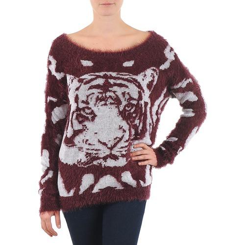 Kleidung Damen Pullover Vero Moda TIGER LS BLOUSE Bordeaux
