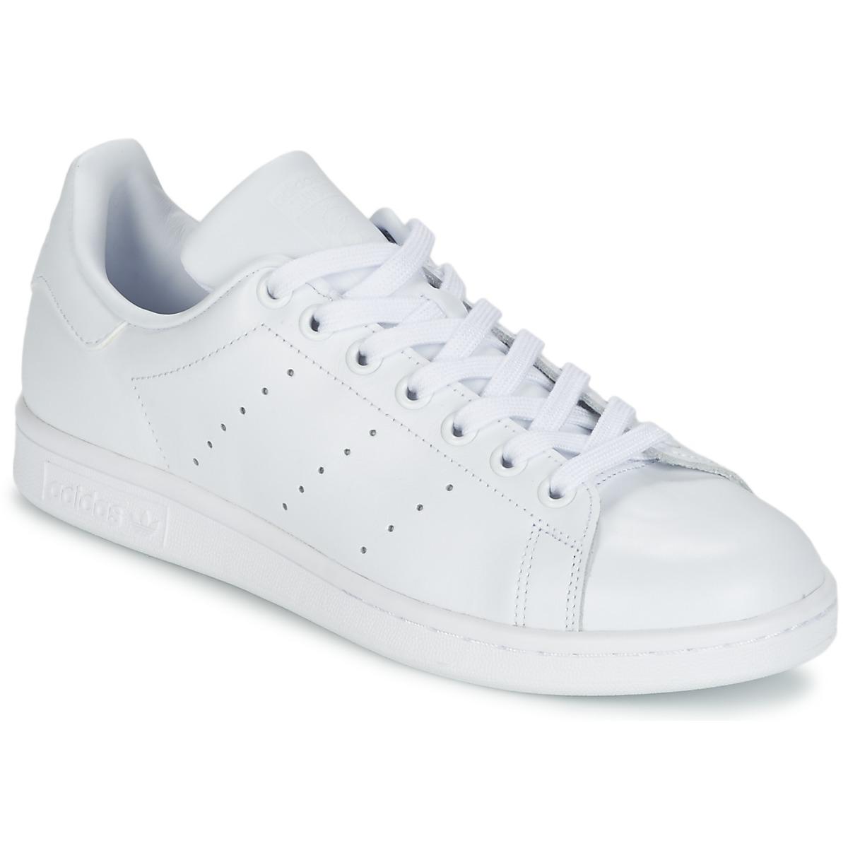 adidas Originals STAN SMITH Weiss - Kostenloser Versand bei Spartoode ! - Schuhe Sneaker Low  76,00 €