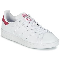 Schuhe Kinder Sneaker Low adidas Originals STAN SMITH J Weiss / Rose