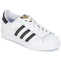 Schuhe Jungen Sneaker Low adidas Originals SUPERSTAR Weiss