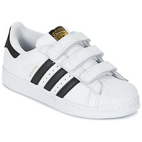 Schuhe Jungen Sneaker Low adidas Originals SUPERSTAR FOUNDATIO Weiss / Schwarz