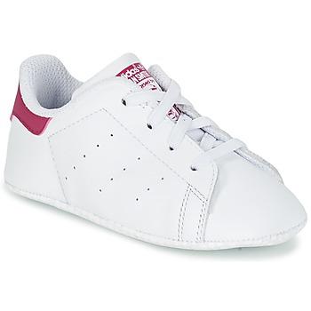 Schuhe Mädchen Sneaker Low adidas Originals STAN SMITH CRIB Weiss / Rose