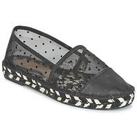 Schuhe Damen Leinen-Pantoletten mit gefloch Paul & Joe Sister GAIA Schwarz
