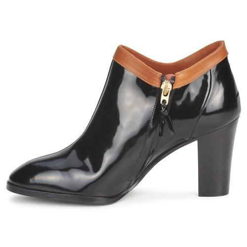 Sonia Rykiel 654802 Schwarz / Boots Ocker  Schuhe Ankle Boots / Damen 311,50 30fbf0