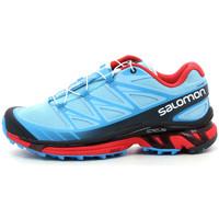 Schuhe Damen Laufschuhe Salomon Wings Pro Bleu