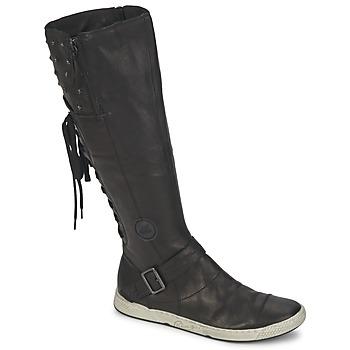 Schuhe Damen Klassische Stiefel Pataugas JOSS Schwarz