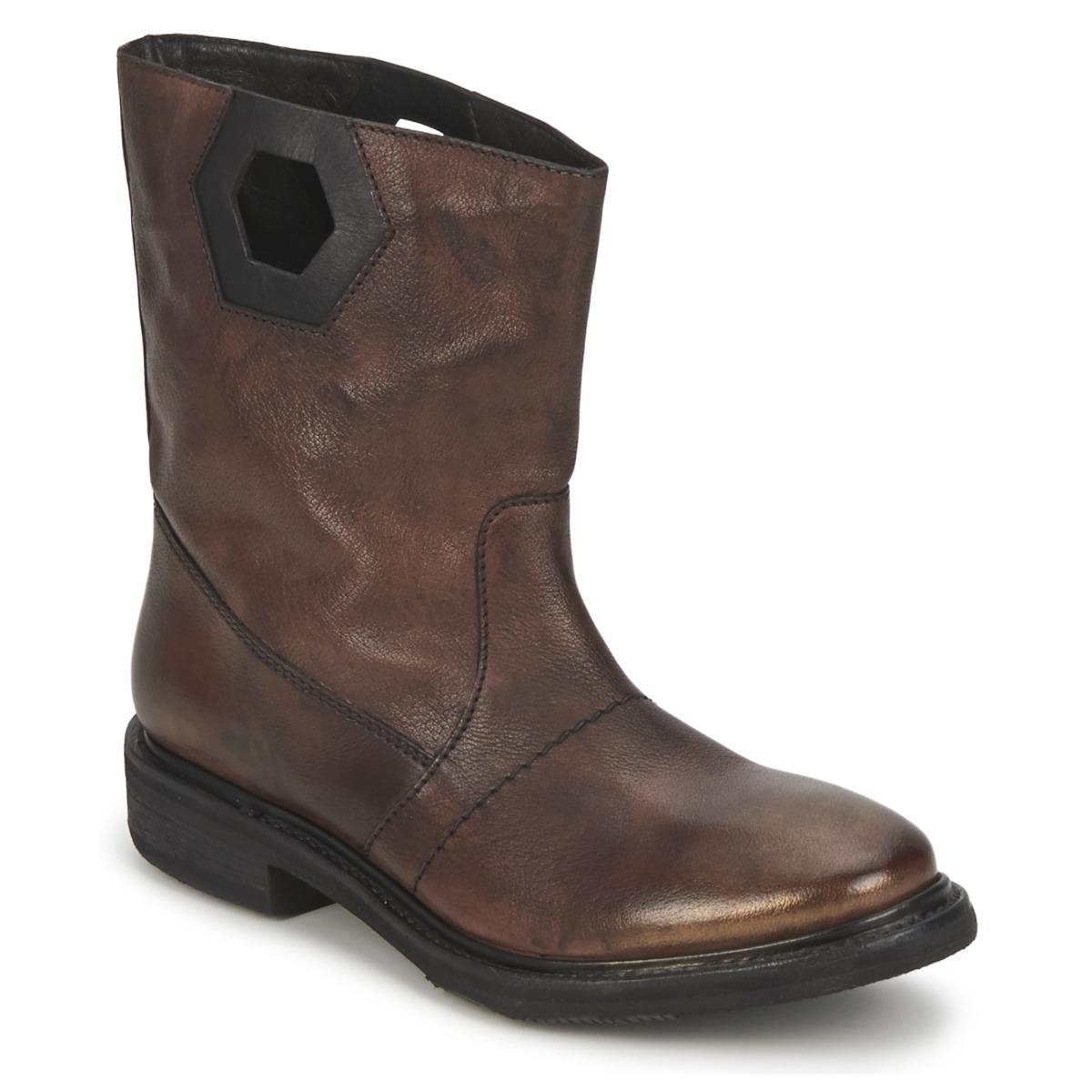 Bikkembergs TEXANINO 12 Braun - Kostenloser Versand bei Spartoode ! - Schuhe Boots Damen 119,50 €