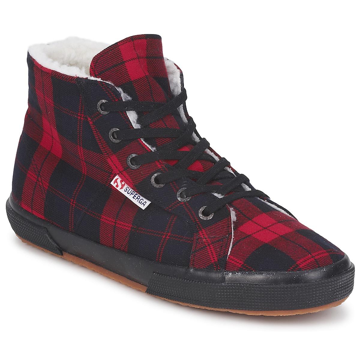 Superga 2095 Rot / Schwarz - Kostenloser Versand bei Spartoode ! - Schuhe Sneaker High  57,50 €