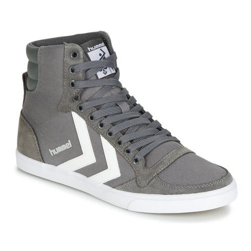 Hummel TEN STAR HIGH Grau / Weiss Schuhe Sneaker High 52,49