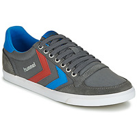 Schuhe Herren Sneaker Low Hummel TEN STAR LOW CANVAS Grau / Blau / Rot