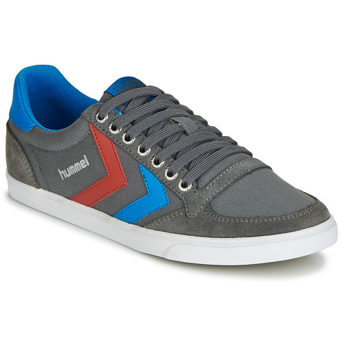 Hummel TEN STAR LOW CANVAS Grau / Blau / Rot  Schuhe TurnschuheLow  59,99