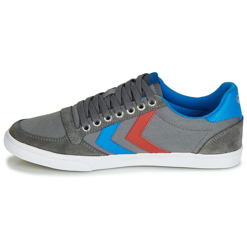 Hummel Grau TEN STAR LOW CANVAS Grau Hummel / Blau / Rot  Schuhe TurnschuheLow  58,90 3d5d38