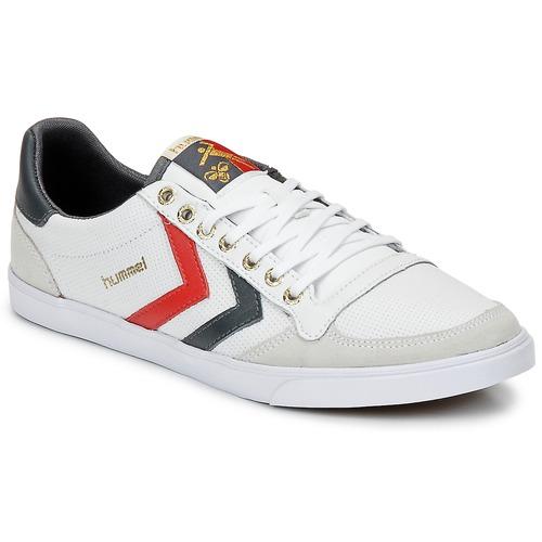 Schuhe Sneaker Low Hummel TEN STAR LOW Weiss / Grau / Rot