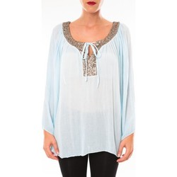 Kleidung Damen Tuniken Tcqb Tunique TDI paillettes bleu ciel Blau