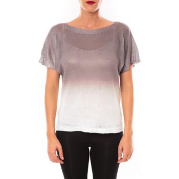 Kleidung Damen T-Shirts De Fil En Aiguille Top Carla marron Braun