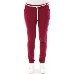 Kleidung Damen 5-Pocket-Hosen De Fil En Aiguille Pantalon Sandra bordeaux Rot