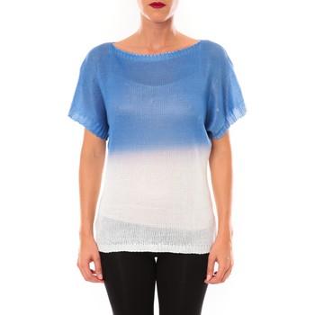 Kleidung Damen T-Shirts De Fil En Aiguille Top Carla bleu Blau