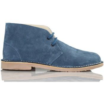 Schuhe Sneaker High Arantxa Arancha pisacacas safari unisex Lederstiefel BLAU