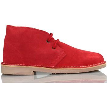 Schuhe Sneaker High Arantxa Ar pisacacas safari Lederstiefel ROT