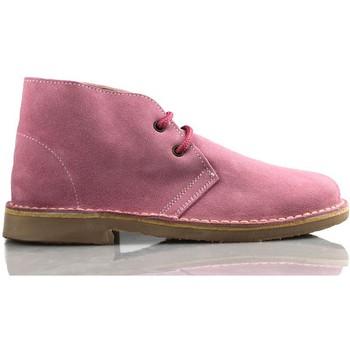 Schuhe Sneaker High Arantxa Arancha pisacacas safari unisex Lederstiefel PINK