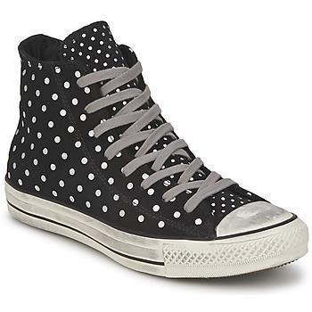Schuhe Damen Sneaker High Converse ALL STAR PRINTED SUEDE HI Schwarz
