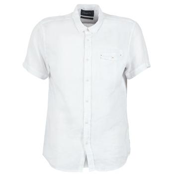 Kleidung Herren Kurzärmelige Hemden Chevignon C-LINEN Weiss