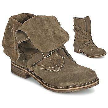 Schuhe Damen Boots Casual Attitude GRAVINE Braun