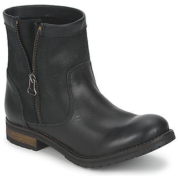 Schuhe Damen Boots Casual Attitude ISPINI Schwarz