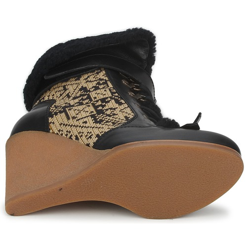 Etro DENISE Schwarz / Boots Beige  Schuhe Low Boots / Damen 538,40 0975cb