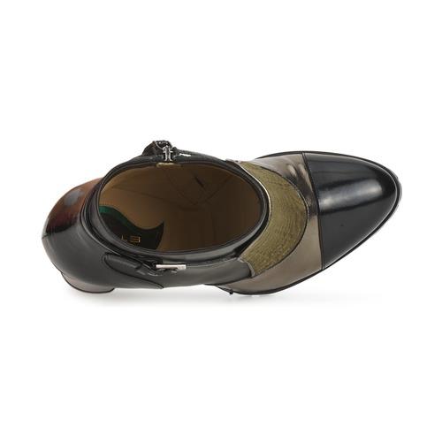 Etro FEDRA Schwarz / Kaki / Silbern  Schuhe Low Boots Damen 476