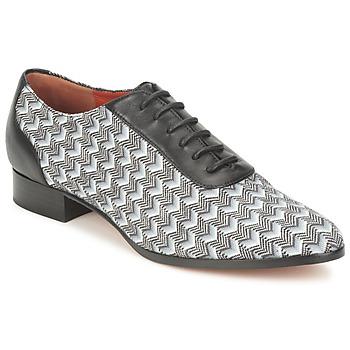 Schuhe Damen Richelieu Missoni WM076 Schwarz / Grau