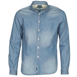 Kleidung Herren Langärmelige Hemden Façonnable PLUSAMO Blau