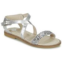 Schuhe Mädchen Sandalen / Sandaletten Garvalin COSMOS Silbern