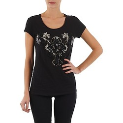 Kleidung Damen T-Shirts S.Oliver T-SHIRT MANCHES COUR Schwarz